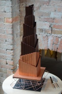 bronze geometric cake | ben the cake man