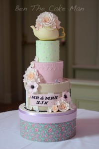 whimsical cute wedding cake |ben the cake man