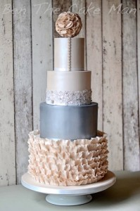 Metallic Lustre ruffle cake | ben the cake man