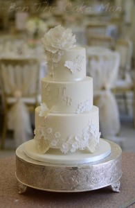 lace wedding cake | ben the cake man