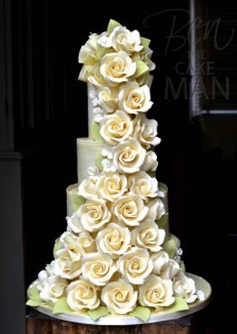 white chocolate roses cake | Ben the cake man