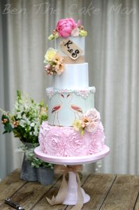 Rustic flamingo frills | Ben the cake man