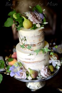naked rustic buttercream cake | Ben the cake man