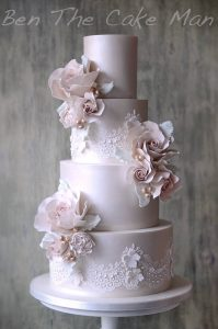 lustre wedding cake|ben the cake man