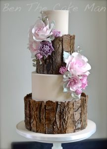 bark wedding cake|ben the cake man