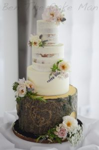 rustic|naked wedding cake|ben the cake man