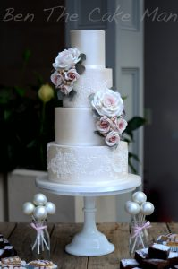 Lustre lace cake|ben the cake man