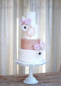 rose gold sequins|ben the cake man