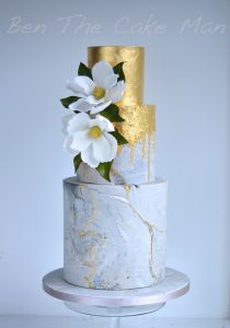 concrete cake|gold leaf|ben the cake man