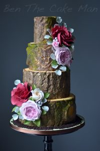 Rustic log wedding cake|ben the cake man